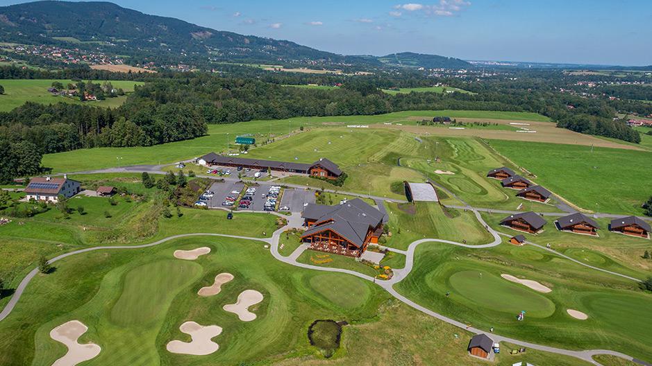 Hřiště golfového clubu Ostravice